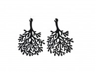Boucles d'oreille Algue - Alga