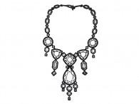 Collier Court Diamant - De diamante